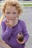 enjoying a cupcake